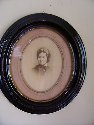 "Antique Oval Frame - Matting and Print   ""BAMBERMANN""  12x11 signed"