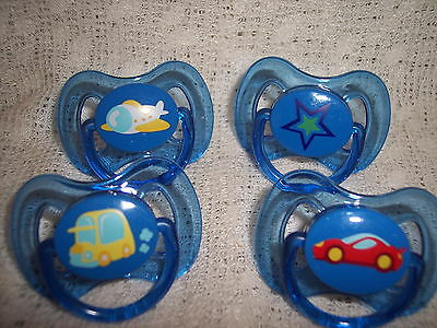 Magnetic Clear Blue Decorated Dummy 4 Boy / Doll