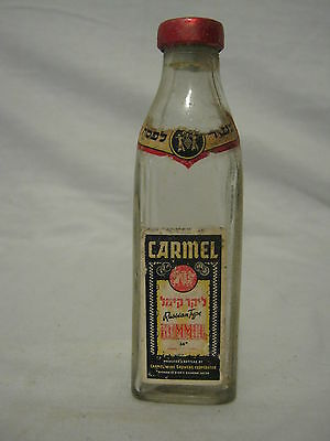 a 38ml  miniature   israel wine empty bottle from the 60's