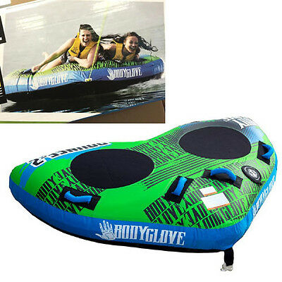 Body Glove Bounce (2 Person) Double Surf Ski Tube Biscuit Inflatable