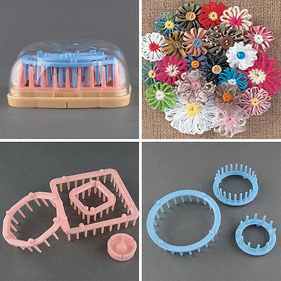Set of 6 Sizes Yarn Wool Craft Maker Flower Looms Round&Square shapes Knitting