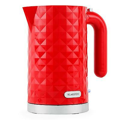 Cordless 1.7L 2200W Fast Boil Boil-Dry Protection Jug Electric Kettle - Red