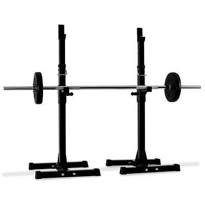 Heavy Duty Adjustable Squat Rack Gym Pro Fitness Workout Power Weight Bar Stand