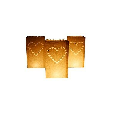 Hearts Design Candle Bags (20 PACK) White, All Occasions