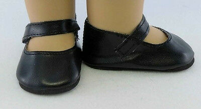 """Black Mary Janes - Shoes fit 18"""" American Girl  Dolls - Clothes"""