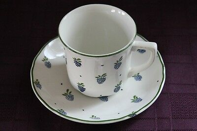 "J&G Meakin - Royal Staffordshire - Ironstone - Cup and Saucer  ""Berries"""