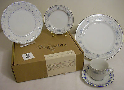 ANTIQUARIA Savannah Collection, Curated 5pc Vintage Fine China Set, 60% Off!