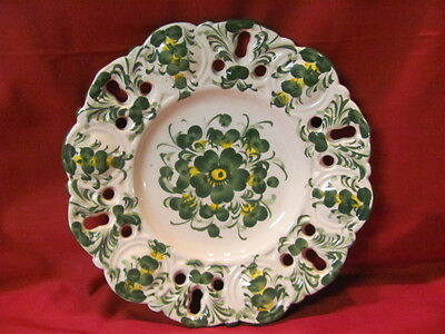 Vintage Portugal Jay Willfred Andrea by Sadek Pierced Hanging Decor Plate