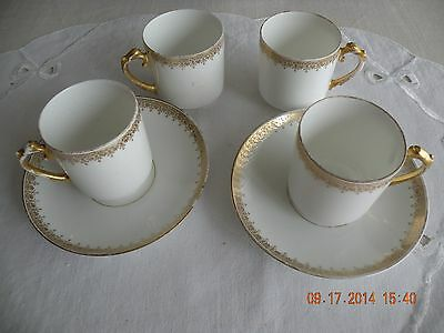 Delinieres & Co. Chocolate Cups and Saucers - c 1900