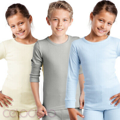 MT® Kinder Funktionsunterhemd - Langarm Thermo Shirt Thermounterwäsche