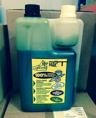 Active 2-Stroke Oil 100% Synthetic 1 Litre No Smoke 100:1 Mix High Performance