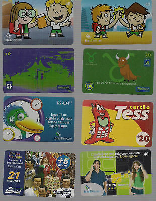 8 different Phone cards / Telecards, brazil