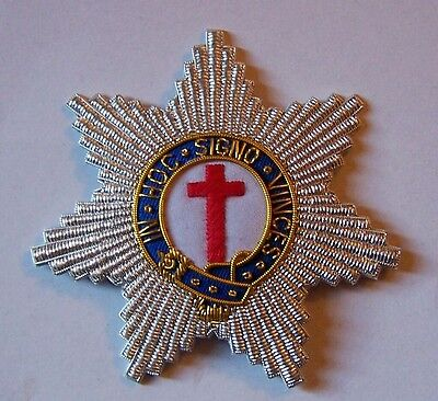Medieval Masonic Knights Templar Star Badge Patch Cross In Hoc Signo Vinces