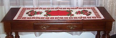 VINTAGE, ANTIQUE CHRISTMAS TABLE RUNNER EXCELLENT CONDITION