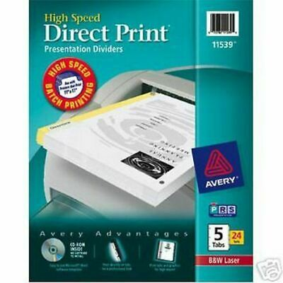 Avery 11539 Direct Print 5 Tab Collating  Dividers