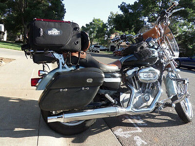 Harley-Davidson Sportster Hard Leather bolt-on saddlebags
