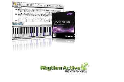 Sibelius First Notation Music Creation Software By Avid Win/mac Retail/boxed - 8