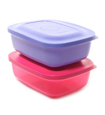 Brand New Tupperware Snack n Stack Rectangular Lunch Box - Set of 2
