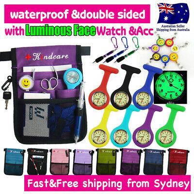 Nurses Pouch and FOB Luminous Watch Extra Pocket Waist Strap Organizer Pick Bag