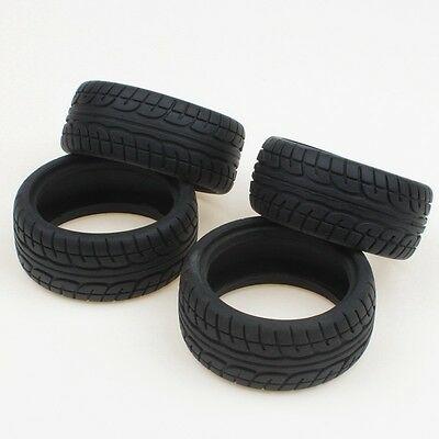 Soft Rubber Tires Tyre for RC 1:10 On Road Car Pack of 4
