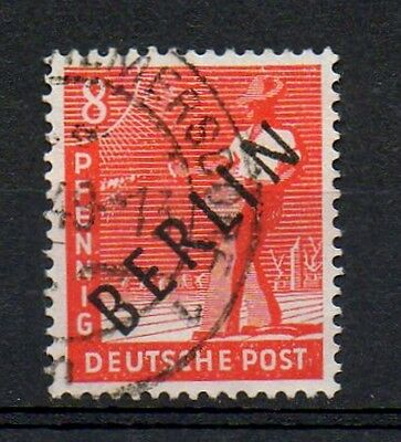 GERMANY WEST BERLIN 1948 BLACK OVERPRINT ON ALLIED OCCUPATION ISSUE 8pf USED