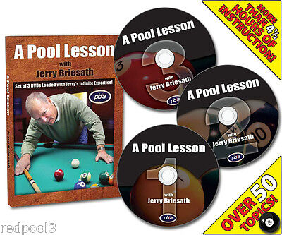 A Pool Lesson by Jerry Briesath - 3 DVD Set - Over 4 hours w/a Master Instructor