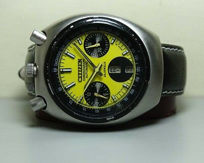 VINTAGE CITIZEN CHRONOGRAPH AUTOMATIC DAY DATE MENS WATCH 60400767 OLD USED H292