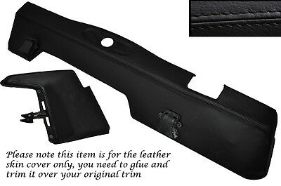 Black Stitch Lower Dash Dashboard Leather Skin Covers Fits Land Rover Series 3