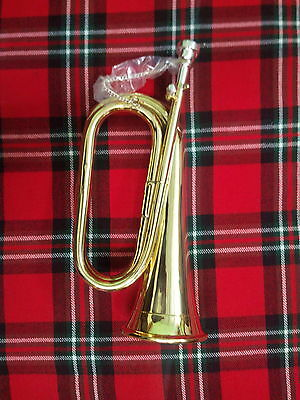 T C NEW PROFESSIONAL Bb BUGLE BRASS WITH FREE HAND CARRYING CASE/BB ARMY BUGLE