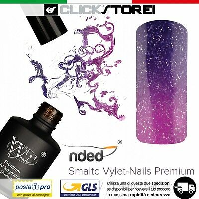 SMALTO GEL UV SEMIPERMANENTE 15ml TERMICO PER UNGHIE NAIL ART NDED VIOLA ROSA