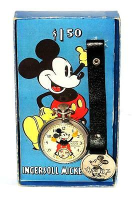 RARE INGERSOLL MICKEY MOUSE Pocket Watch ORIGINAL 1933  VERSION