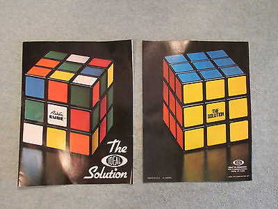 Lot 2 new Rubik's Cube The Ideal Solution Book 1981 Instruction Guide manual toy