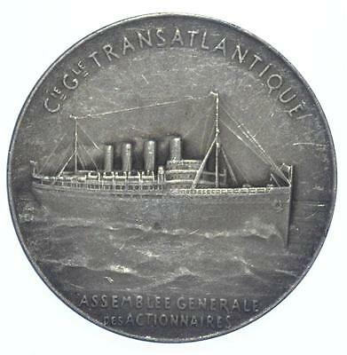 France - Ca. 1935 Transatlantic Cruiseliner Art Deco medal