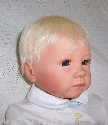 Kemper Cassidy MOHAIR Doll Wig SZ 14/15~PALE PL BLONDE~Partial Cap~Easy to Style