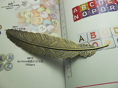 1pcs The ancient bronze Large leaves bookmark charms Findings 114mm C58