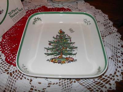 Vintage Spode Christmas Tree 11 by 11 Deep Square Dish