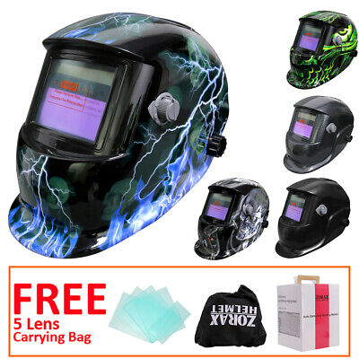 Leopard Auto Darkening Welding Helmet Mask Grinding Solar-Cell Power 9-13 Shade