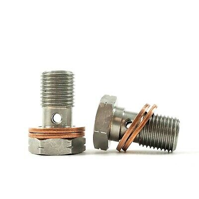 2 X M10 x 1.00mm HEL PERFORMANCE STAINLESS STEEL BANJO BOLTS BAN0001I