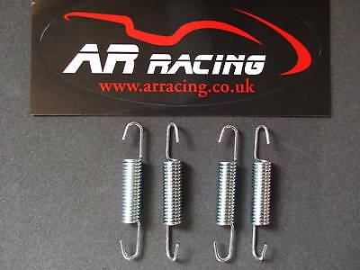 Universal Exhaust Springs 90 mm in Silver 4 pack