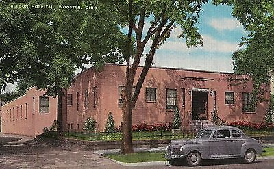 Beeson Hospital Wooster OH Postcard