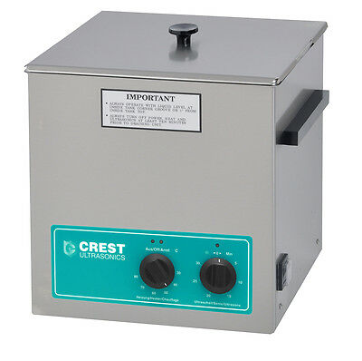 """NEW CREST CP500HT 1.5 Gal Ultrasonic Cleaner, Heat+Timer+Cover 11.75"""" x 6"""" x 6"""""""