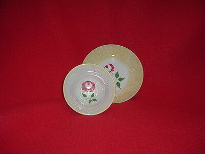 Staffordshire Spatterware Yellow Rose Cup And Saucer Rare Ca. Spatter 1835