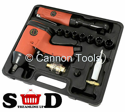"""13pc 13mm 1/2"""" Drive Air Impact Gun And Ratchet Wrench Kit For Compressor CT0870"""
