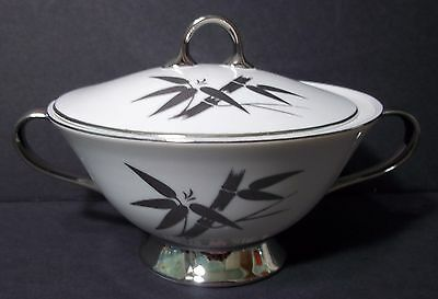 Fine China by DeVille Matimony Japan Sugar Bowl +Lid Bamboo Leaves Discontinued