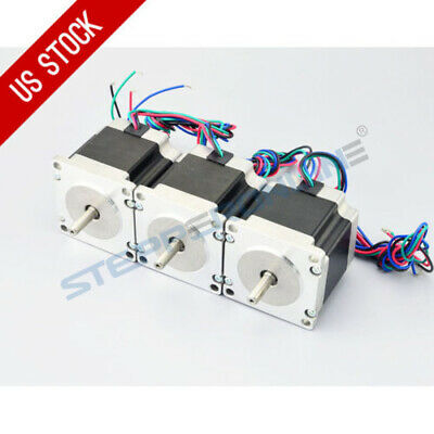 US Ship 3pcs Nema 23 CNC Stepper Motor 179oz.in(1.26Nm) Bipolar DIY Hobby CNC