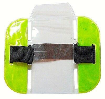 Shooting or Equestrian Horse Riding Medical ID Card Armband Reflective Neon lot
