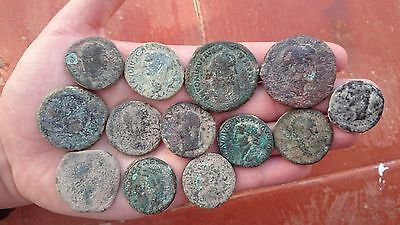 VERY NICE LOT IBERIC 13 ROMAN COINS and IBERIC ROMAN COINS to IDENTIFY  Ref:S484