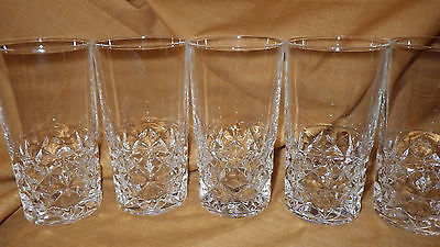 Crystal Tumblers Highball Glasses Cristal D'Arques of France Sully 6 11oz glass