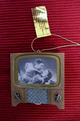 ENESCO IT'S A WONDERFUL LIFE BEDFORD FALLS BLACK TV HANGING HOLIDAY ORNAMENT HTF