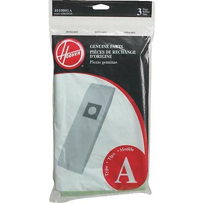 3 Pack Type A Vacuum Cleaner Bags by Hoover 4010001A